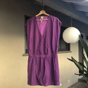 ▪️haute hippie dress▪️purple cover up wrap dress